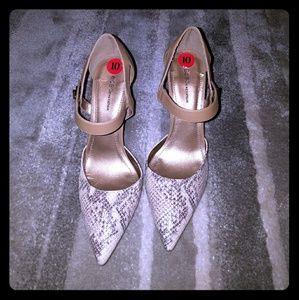 Stiletto heels Nude snake skin